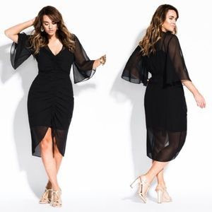 NEW City Chic black Drawn Up dress size 18